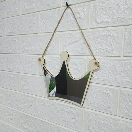 outdoorline Wooden Acrylic Headwear Shape Hanging Mirror Decorative Mirror Children Room Home Ornaments - image 7 de 9