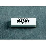 "School Smart Latex-Free Non-Abrasive Soft Vinyl Eraser, 2.5"" x 0.875"" x 0.5"", White, Pack of 20"
