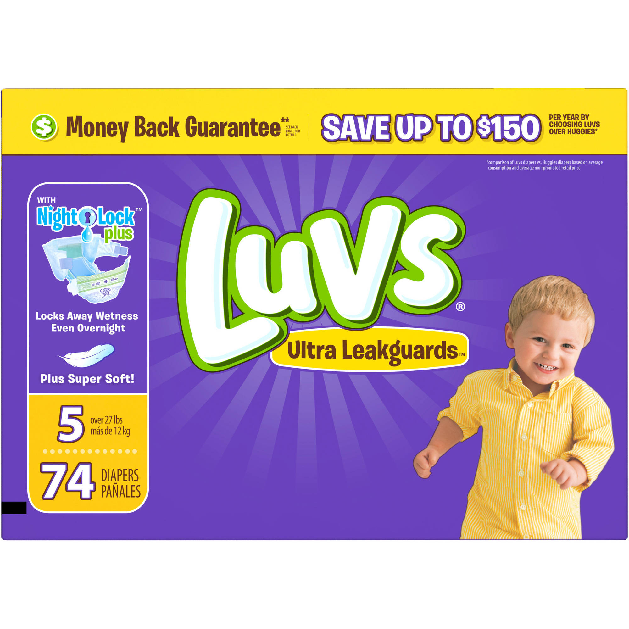 Luvs Ultra Leakguards Diapers, Size 5 (Choose Diaper Count)