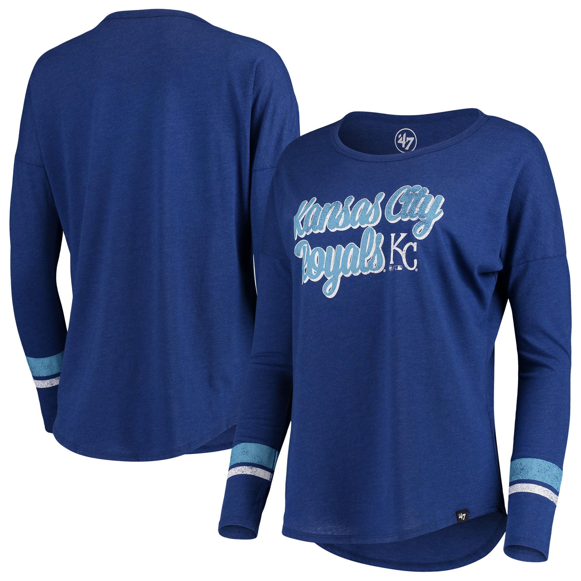 Kansas City Royals '47 Women's Club Courtside Stripe Long Sleeve T-Shirt - Royal
