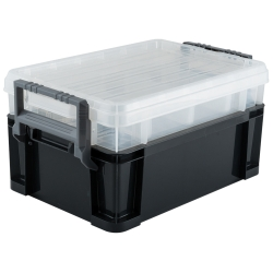 "Titan 21218 18"" 3-way Stackable Storage Tote"