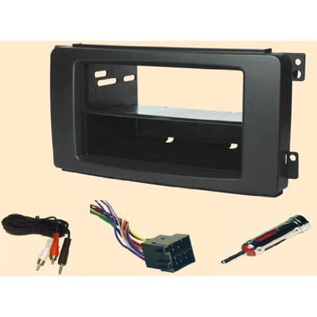Faceplate Kit - Smart Fortwo, for to, two, For2 2008 2009 2010 Double or Single din Radio installs** Stereo wiring Harness, Dash Install Kit Faceplate, with FM Antenna Adaptor.., By Carxtc Ship from US