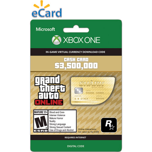 Xbox One GTA V Whale Shark Cash $49.99 (Email Delivery)