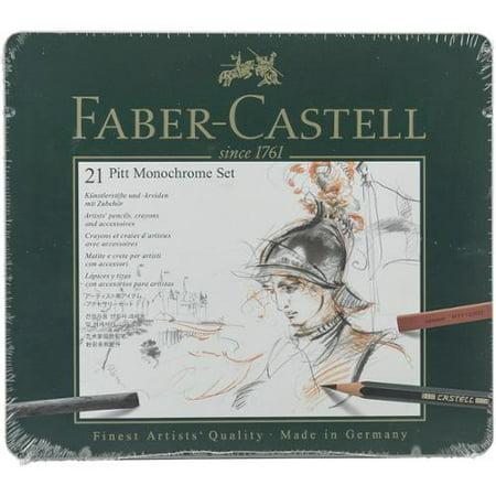 FABER-CASTELL USA 112976 PITT MONOCHROME TIN SET OF 21