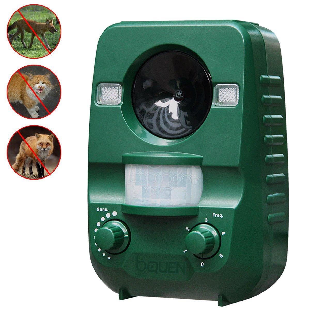 Ultrasonic Animal Cat Repeller, Solar Powered Rechargeabl...