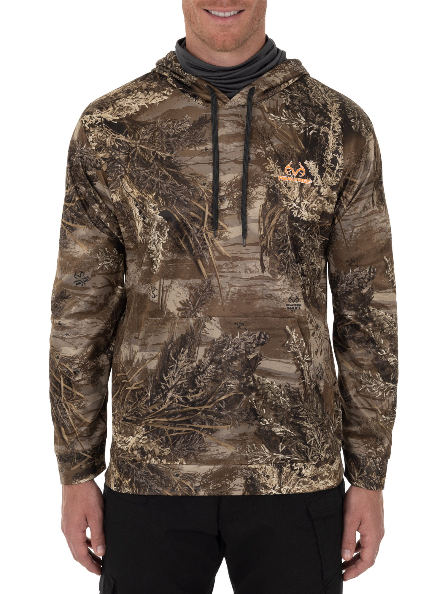 Realtree Men's Long Sleeved Performance Fleece Camo Hunting Hoodie