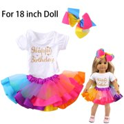 Cute Tutu Skirt Clothes Coat Girl Toy For 18 inch Doll Accessory Gril's Toy