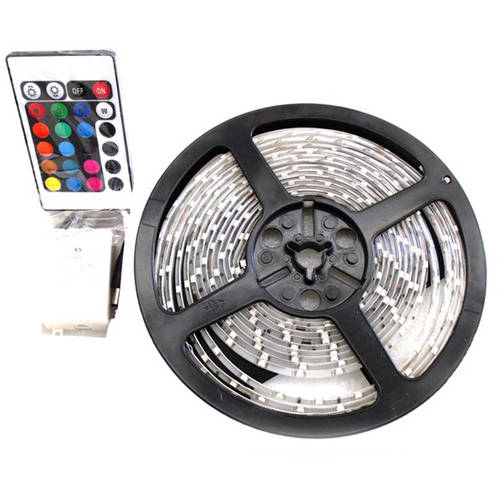 Race Sport Accessories RS-16FT-5050-RGB 20-Color RGB 5050 LED Strip with Remote, 5m