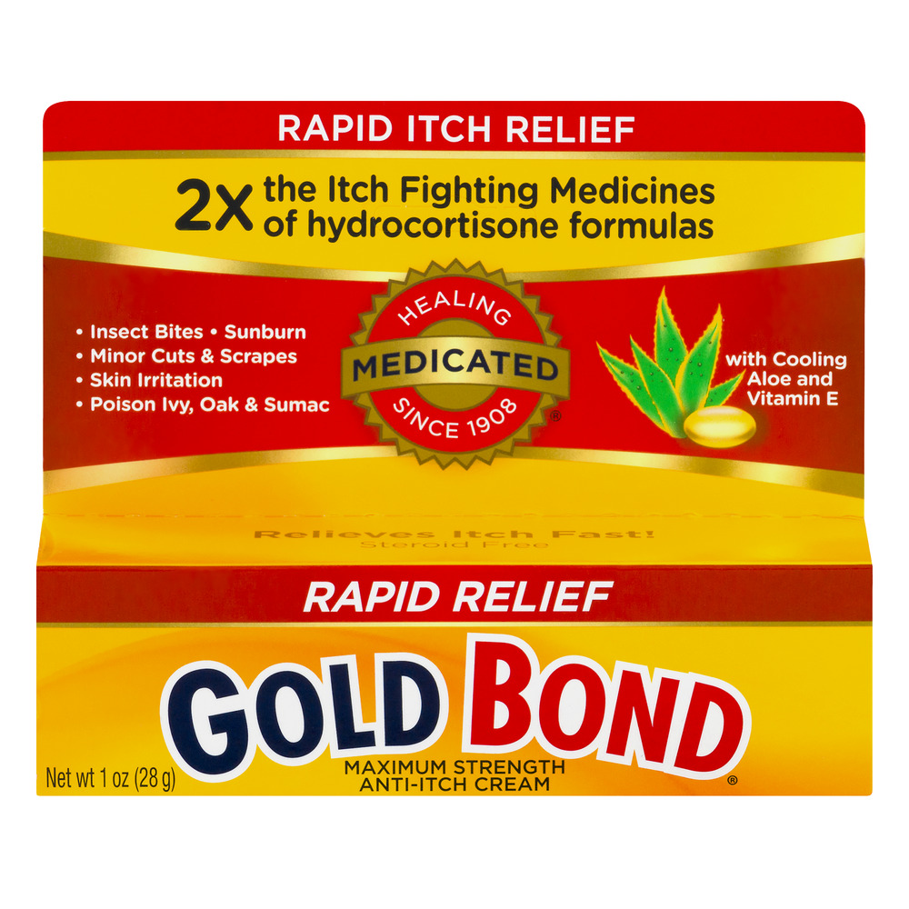 Gold Bond Anti-Itch Cream Rapid Relief Maximum Strength, 1.0 OZ
