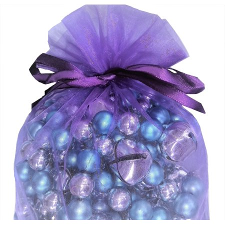 Large Organza Bags 10 Purple Haze 8 X 12 Inch Sheer Fabric Gift Pouch - Purple Gifts