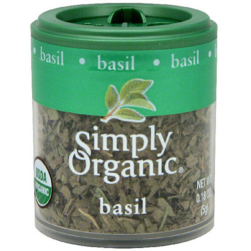 Simply Organic Basil, 0.18 oz (Pack of 6)