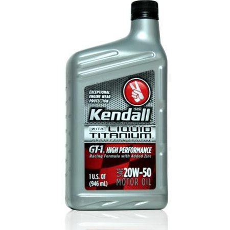 Kendall gt 1 high performance 20w50 12 1 quart case for How to get motor oil out of jeans