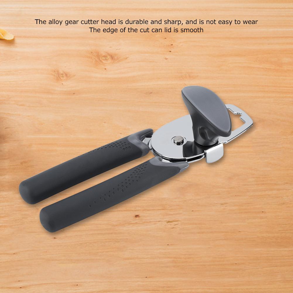 Can Opener Effortless Smooth Edge Manual Stainless Steel Handy Easy Turn Knob US