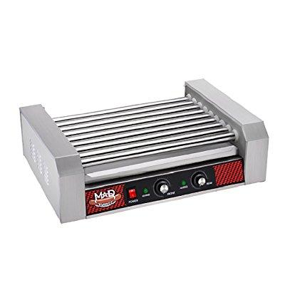 great northern popcorn company 24 hot dog 9 commercial roller grilling machine, 1800w, silver