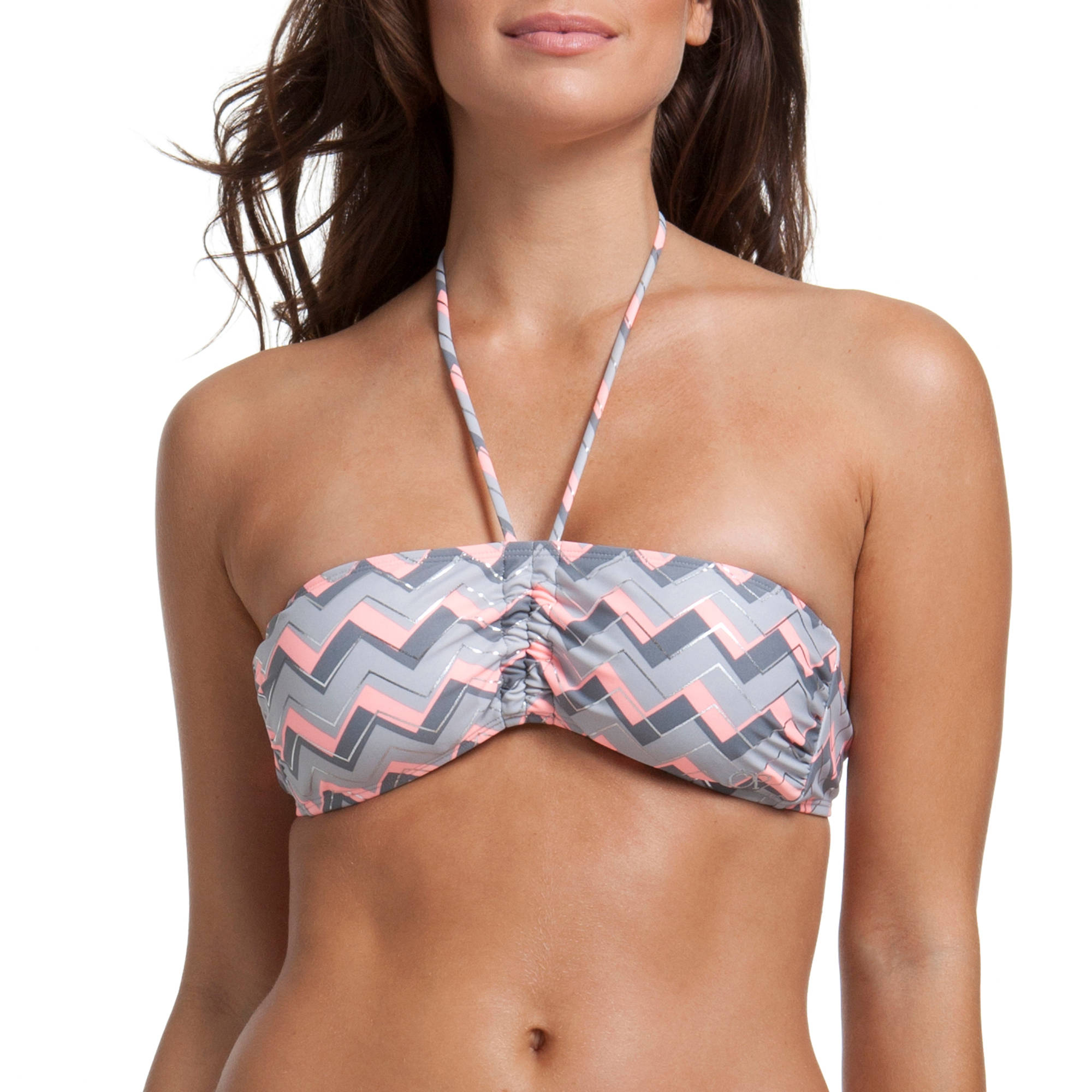 OP Juniors Swim Chevron Bandeau Bikini Top