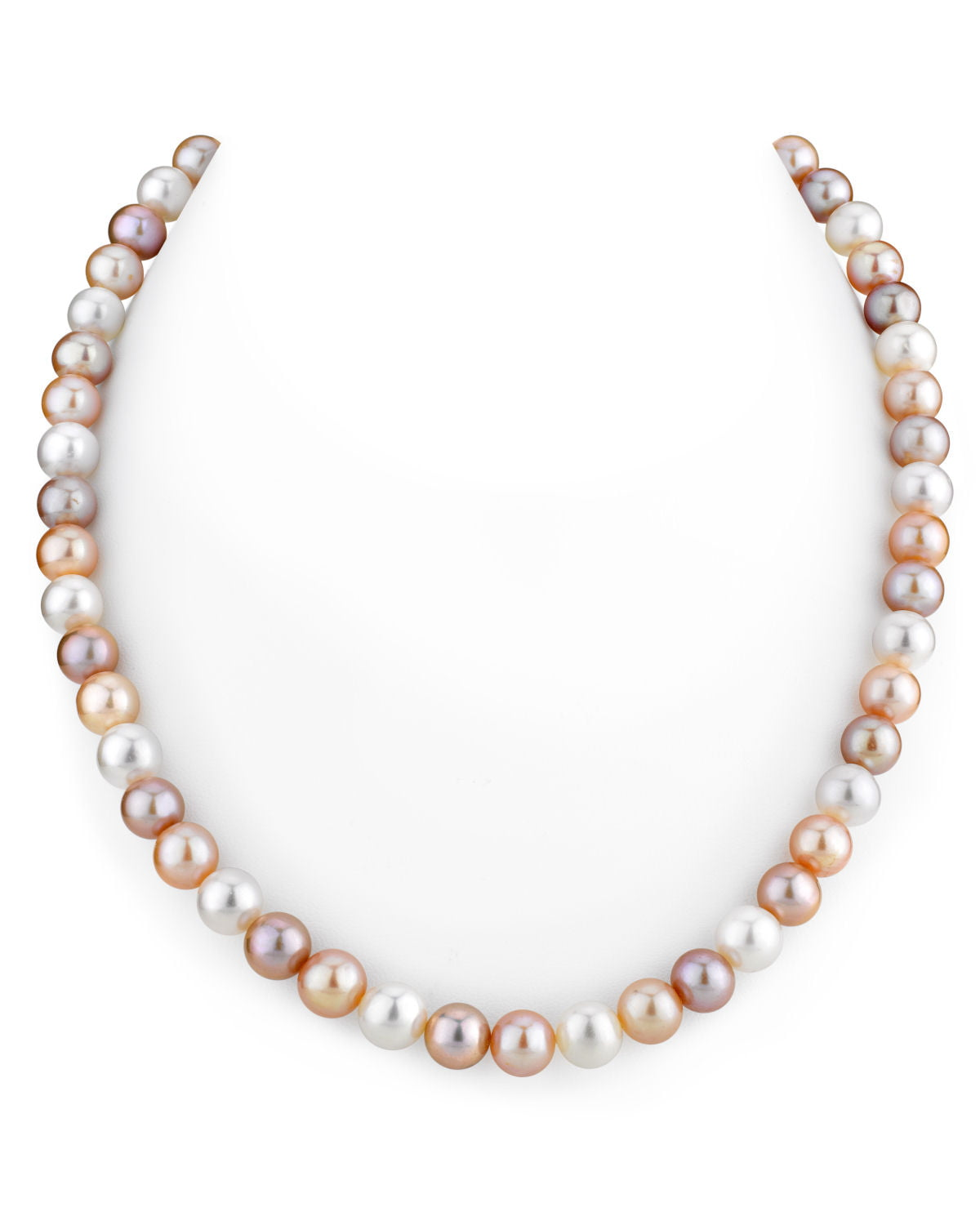 """THE PEARL SOURCE 14K Gold 8-9mm AAAA Quality Multicolor Freshwater Cultured Pearl Necklace for Women in 20"""" Matinee... by The Pearl Source"""