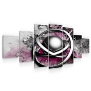 STARTONIGHT Large Canvas Wall Art Abstract - The Center of a Metal Atom - Huge Framed Modern Set of 7 Panels 40 x 95 Inches