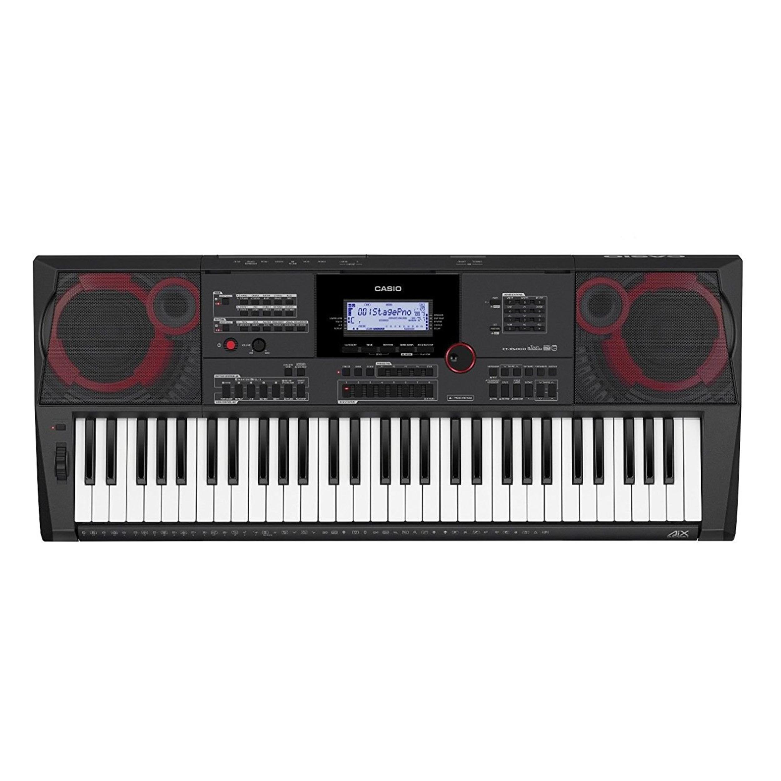 Casio CTX5000 61-Key Touch Sensitive Portable Keyboard with Power Supply by Casio