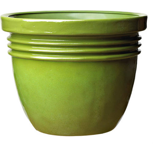 Better Homes and Gardens Bombay Decorative Planter, Green, Multiple Sizes by Generic