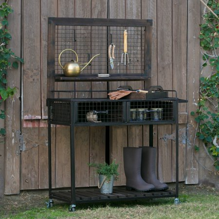 Coral Coast Guthrie Wood and Metal Potting Bench