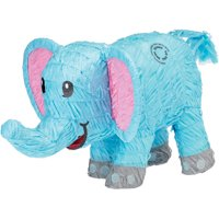 Elephant Pinata, Baby Blue, 18in x 12in
