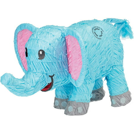 Blue Elephant Pinata - Baby Minnie Mouse 1st Birthday Pinata