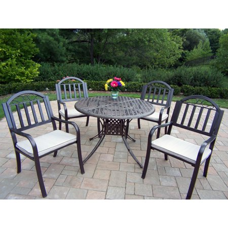 Oakland Living Elite Rochester Cast Aluminum 42 in. Patio Dining Set