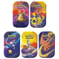 Pokemon Kanto Power Mini Tin 5 Pack Bundle- All 5 Characters included | Pikachu, Charizard, & Mewtwo