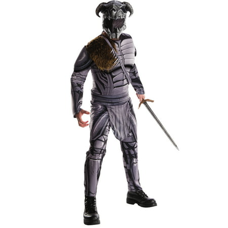 Superheroes And Villain Costumes (Wonder Woman Mens Deluxe Ares DC Villain Adult Halloween)