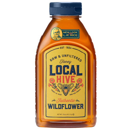Local Hive Authentic Wildflower Raw & Unfiltered Honey, 16 oz