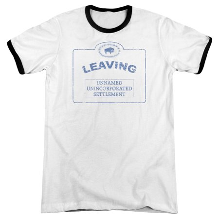 Warehouse 13 Now Leaving Univille Mens Adult Heather Ringer Shirt