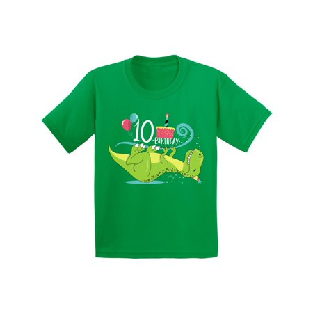 Awkward Styles 10th Birthday Shirt Cute Dinosaur Birthday Tshirts for Boys Cute Dinosaur Birthday Tshirts for Girls Tenth Birthday Gifts Kids Birthday Shirts Funny Gifts for 10 Year (Birthday Presents For Ten Year Old Boy)