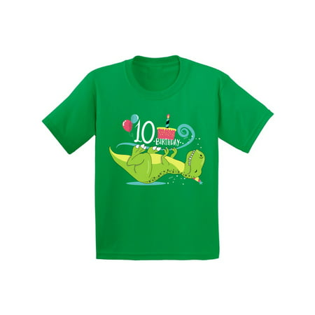 Awkward Styles 10th Birthday Shirt Cute Dinosaur Birthday Tshirts for Boys Cute Dinosaur Birthday Tshirts for Girls Tenth Birthday Gifts Kids Birthday Shirts Funny Gifts for 10 Year (Cute Crop Tops For 10 Year Olds)