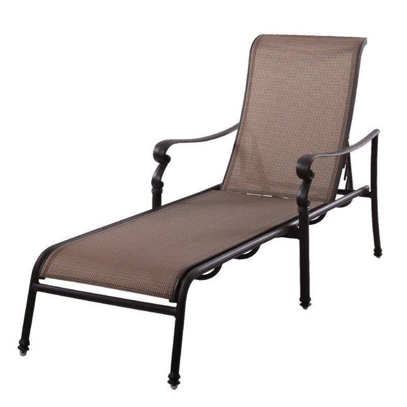 Darlee Monterey Patio Chaise Lounge in Antique Bronze