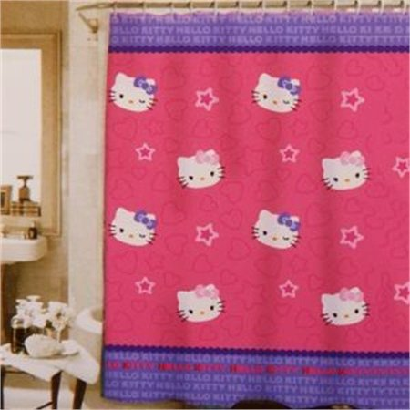 Hello Kitty Amp Me Fabric Shower Curtain