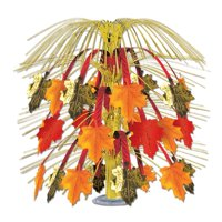 """Pack of 6 Leaves Of Autumn Cascade Centerpiece Thanksgiving Decoration 18"""""""