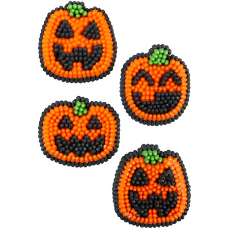 Wilton Pumpkin Icing Decorations, 12-Count