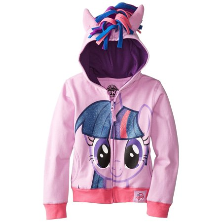My Little Pony Twilight Sparkle Glitter Hair Girls Purple Hoodie