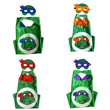 Super Hero Costumes (4 Set Superhero  Costumes - Capes and Masks with Gift Box by)