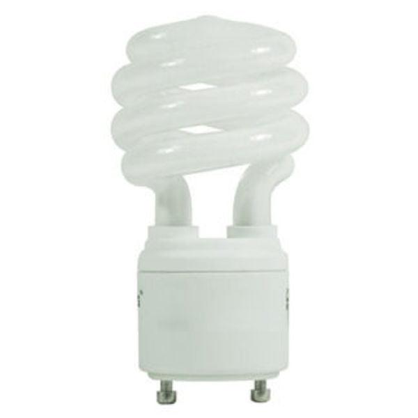 13 Watt - Spiral CFL - 60W Equal - 3500K Halogen White - GU24 Base - GCP 088