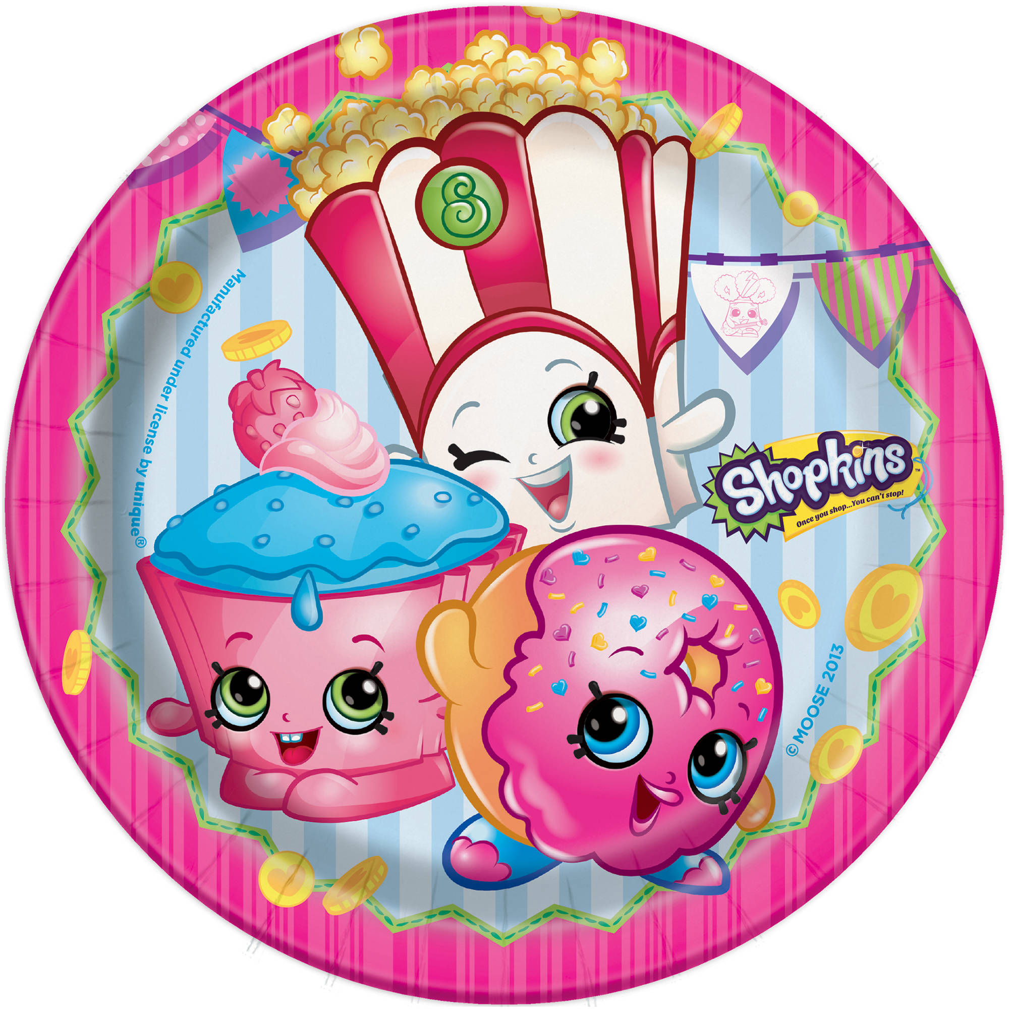 "7"" Shopkins Party Plates, 8ct"