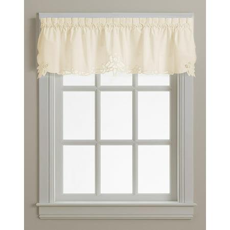Battenburg ecru lace kitchen curtain