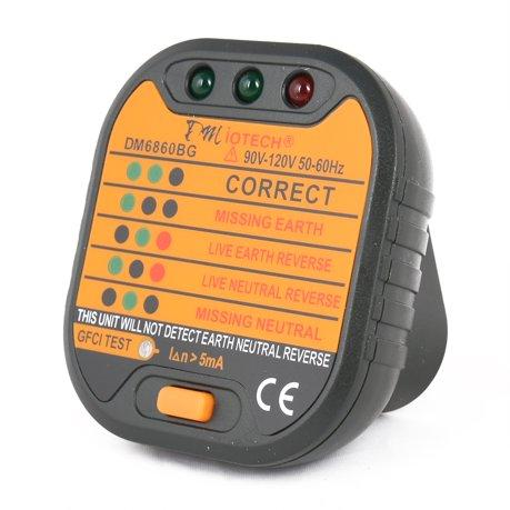 DM6860BG Power Socket Outlet Tester Polarity Checker GFCI Test US ...