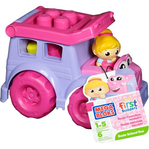 Mega Bloks First Builders Susie School Bus Play Set