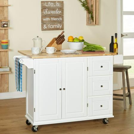 TMS Sundance Kitchen Cart, White