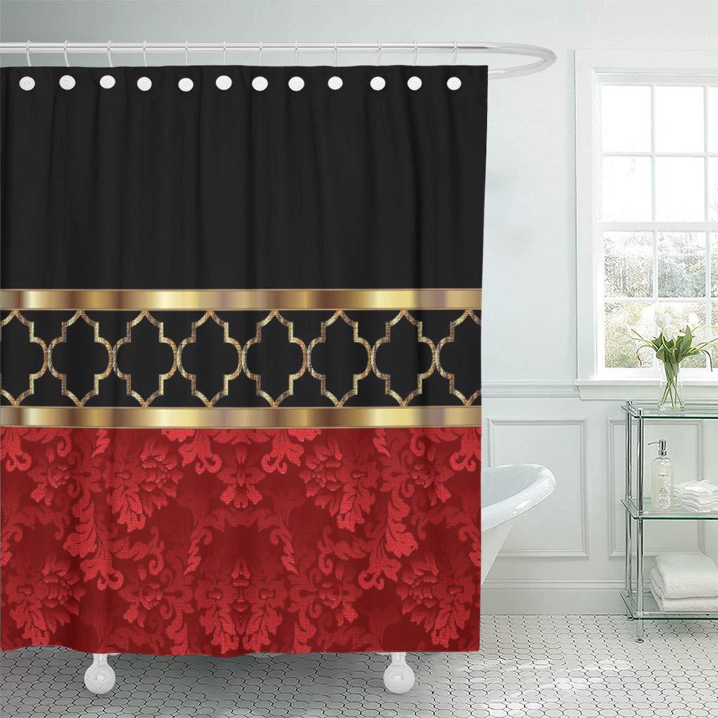 Modern Design Bathroom Shower Curtain Washable Bathroom Decor Red lips