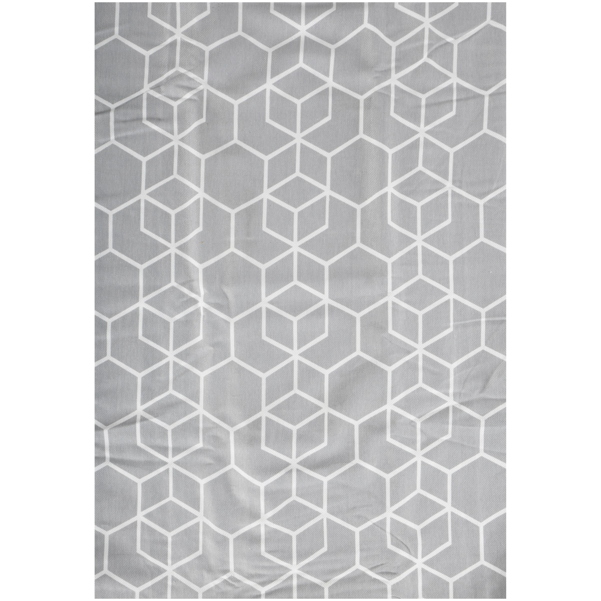 Better Homes and Gardens Hexagon Trellis 13-Piece Bath Set, Shower Curtain and Hooks Included