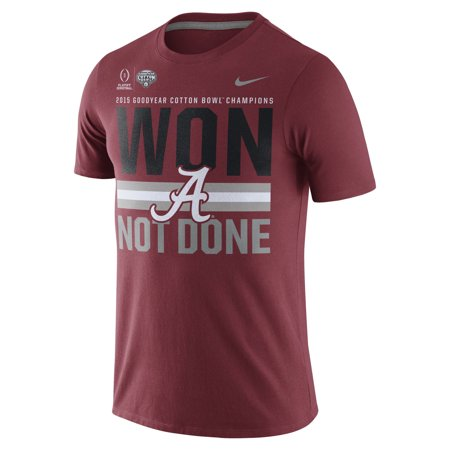Alabama Crimson Tide Nike College Football Playoff 2015 Cotton Bowl Champions Locker Room T-Shirt - Crimson Alabama Crimson Tide Four