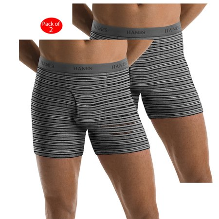 2d460173bc17 Hanes Men's TAGLESS; Ultimate Fashion Stripe Boxer Briefs with Comfort  Flex; Waistband 5-Pack, Color: Fashion Stripe, Size: S --- PACK OF 10 (Men's  Boxer ...