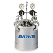 Binks 83C-220 PT II A.S.M.E. Code Pressure Tank, Double Regulation